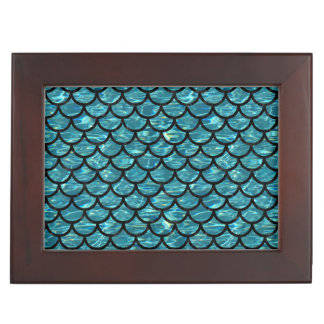 SCALES1 BLACK MARBLE & BLUE-GREEN WATER (R) KEEPSAKE BOX