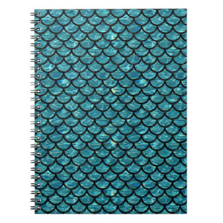 SCALES1 BLACK MARBLE & BLUE-GREEN WATER (R) NOTEBOOK