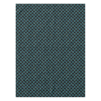 SCALES1 BLACK MARBLE & BLUE-GREEN WATER TABLECLOTH