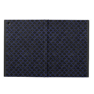 SCALES1 BLACK MARBLE & BLUE LEATHER CASE FOR iPad AIR
