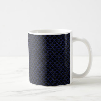 SCALES1 BLACK MARBLE & BLUE LEATHER COFFEE MUG