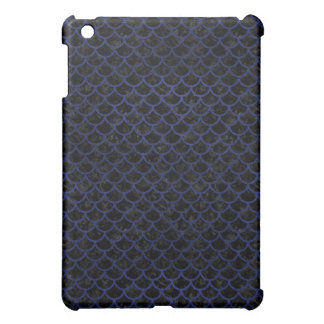 SCALES1 BLACK MARBLE & BLUE LEATHER iPad MINI CASES