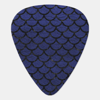 SCALES1 BLACK MARBLE & BLUE LEATHER (R) GUITAR PICK