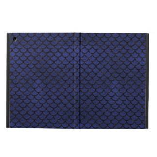SCALES1 BLACK MARBLE & BLUE LEATHER (R) iPad AIR COVER
