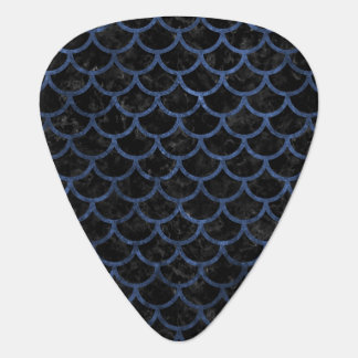 SCALES1 BLACK MARBLE & BLUE STONE GUITAR PICK
