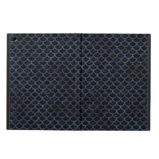 SCALES1 BLACK MARBLE & BLUE STONE iPad AIR COVER