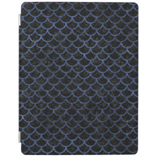 SCALES1 BLACK MARBLE & BLUE STONE iPad COVER