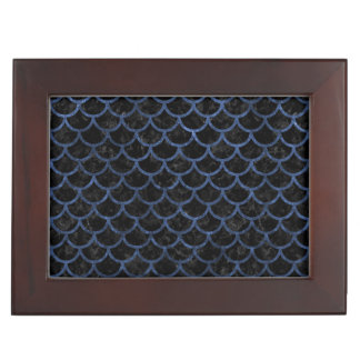 SCALES1 BLACK MARBLE & BLUE STONE KEEPSAKE BOX