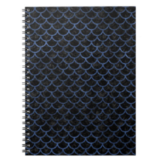 SCALES1 BLACK MARBLE & BLUE STONE NOTEBOOKS