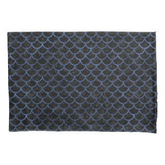 SCALES1 BLACK MARBLE & BLUE STONE PILLOWCASE