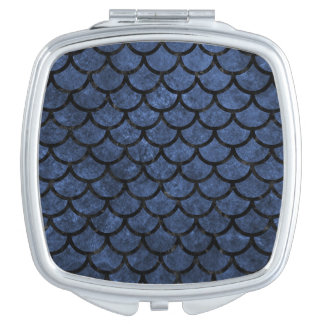 SCALES1 BLACK MARBLE & BLUE STONE (R) COMPACT MIRROR