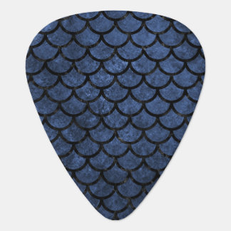 SCALES1 BLACK MARBLE & BLUE STONE (R) GUITAR PICK