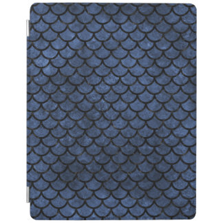 SCALES1 BLACK MARBLE & BLUE STONE (R) iPad COVER