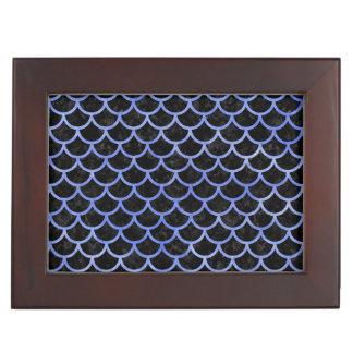 SCALES1 BLACK MARBLE & BLUE WATERCOLOR KEEPSAKE BOX