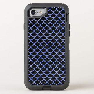 SCALES1 BLACK MARBLE & BLUE WATERCOLOR OtterBox DEFENDER iPhone 8/7 CASE