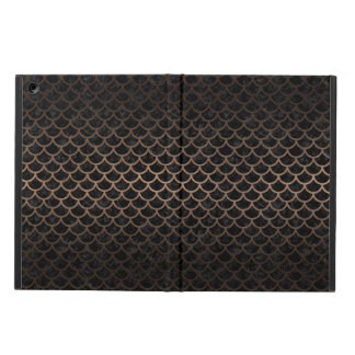 SCALES1 BLACK MARBLE & BRONZE METAL COVER FOR iPad AIR
