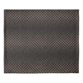 SCALES1 BLACK MARBLE & BRONZE METAL DUVET COVER
