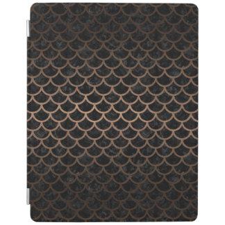 SCALES1 BLACK MARBLE & BRONZE METAL iPad COVER