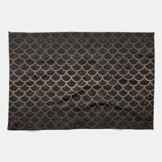 SCALES1 BLACK MARBLE & BRONZE METAL KITCHEN TOWEL