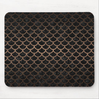 SCALES1 BLACK MARBLE & BRONZE METAL MOUSE PAD