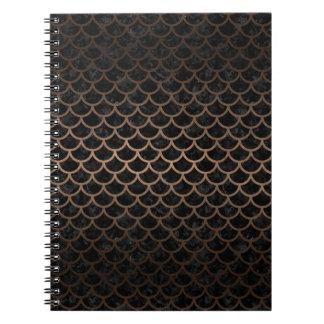 SCALES1 BLACK MARBLE & BRONZE METAL NOTEBOOKS
