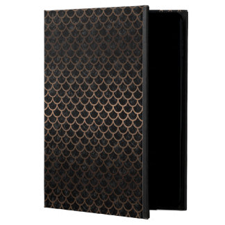 SCALES1 BLACK MARBLE & BRONZE METAL POWIS iPad AIR 2 CASE
