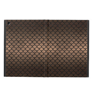 SCALES1 BLACK MARBLE & BRONZE METAL (R) CASE FOR iPad AIR