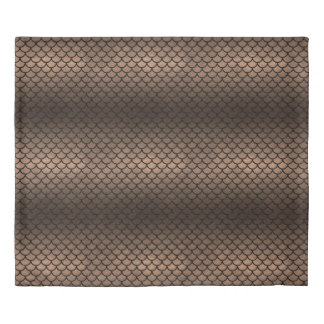 SCALES1 BLACK MARBLE & BRONZE METAL (R) DUVET COVER