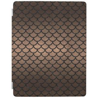 SCALES1 BLACK MARBLE & BRONZE METAL (R) iPad COVER