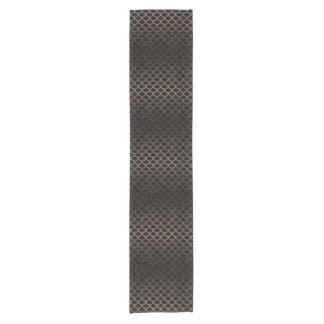 SCALES1 BLACK MARBLE & BRONZE METAL SHORT TABLE RUNNER