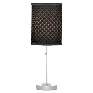 SCALES1 BLACK MARBLE & BRONZE METAL TABLE LAMP