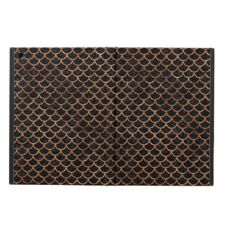 SCALES1 BLACK MARBLE & BROWN STONE CASE FOR iPad AIR