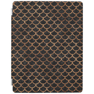 SCALES1 BLACK MARBLE & BROWN STONE iPad COVER
