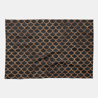 SCALES1 BLACK MARBLE & BROWN STONE KITCHEN TOWEL