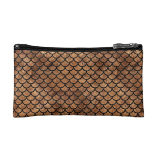 SCALES1 BLACK MARBLE & BROWN STONE (R) COSMETIC BAG