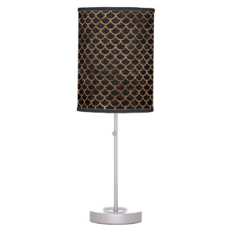 SCALES1 BLACK MARBLE & BROWN STONE TABLE LAMP
