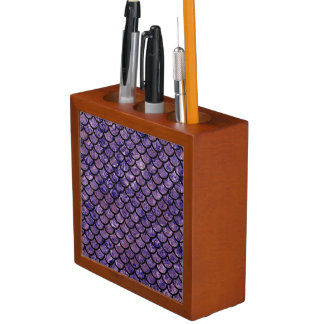 SCALES1 BLACK MARBLE & PURPLE MARBLE (R) DESK ORGANIZER