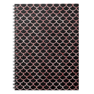 SCALES1 BLACK MARBLE & RED & WHITE MARBLE NOTEBOOK