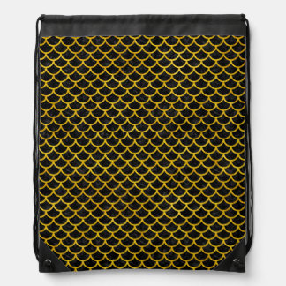 SCALES1 BLACK MARBLE & YELLOW MARBLE DRAWSTRING BAG