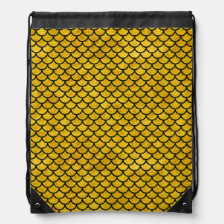 SCALES1 BLACK MARBLE & YELLOW MARBLE (R) DRAWSTRING BAG