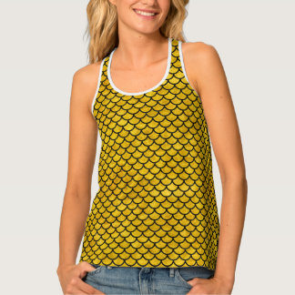 SCALES1 BLACK MARBLE & YELLOW MARBLE (R) TANK TOP
