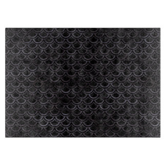 SCALES2 BLACK MARBLE & BLACK WATERCOLOR CUTTING BOARD