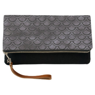 SCALES2 BLACK MARBLE & BLACK WATERCOLOR (R) CLUTCH