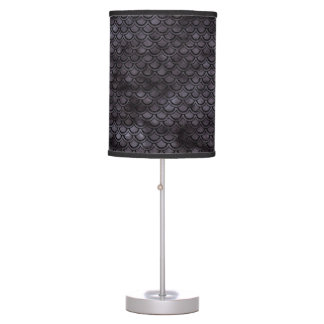 SCALES2 BLACK MARBLE & BLACK WATERCOLOR (R) TABLE LAMP