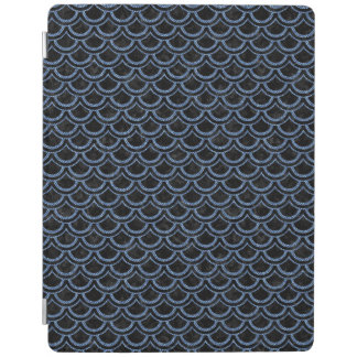 SCALES2 BLACK MARBLE & BLUE DENIM iPad COVER