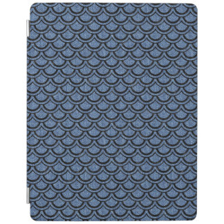 SCALES2 BLACK MARBLE & BLUE DENIM (R) iPad COVER