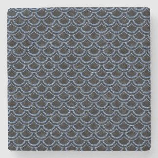 SCALES2 BLACK MARBLE & BLUE DENIM STONE COASTER