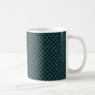SCALES2 BLACK MARBLE & BLUE-GREEN WATER COFFEE MUG