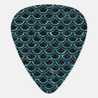 SCALES2 BLACK MARBLE & BLUE-GREEN WATER GUITAR PICK