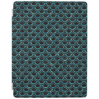 SCALES2 BLACK MARBLE & BLUE-GREEN WATER iPad COVER